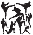 Muay Thai vector image