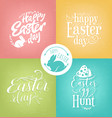 pastel easter greeting card collection vector image