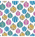 seamless bright pattern with christmas balls new vector image