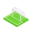 Soccer goal isometric 3d icon vector image