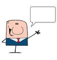 Talking Caucasian Businessman vector image