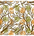 Tree branches seamless pattern vector image