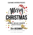 Merry Christmas Party Poster vector image