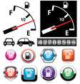 gas gauge and icons of petrol station vector image vector image
