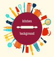 Kitchen utensil-background vector image