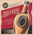 Brandy vintage poster design template vector image vector image