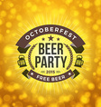 Beer Party Octoberfest Celebration Retro Style vector image