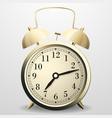 alarm clock mechanical table clock with arrows vector image