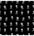 Black and white drawing Jolly Roger skull seamless vector image