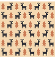 Christmas deer pattern vector image