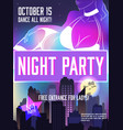 disco party advertising poster vector image