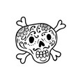 hand drawn doodle skull vector image