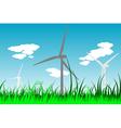 windmills 2 vector image