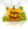 Happy Halloween cut out pumpkin banner vector image vector image