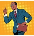 Businessman gesture of the teacher vector image