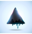 Black triangle on dot background vector image