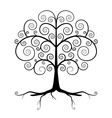 Abstract Black Tree vector image vector image