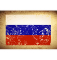 Russian Federation Vintage Flag vector image vector image
