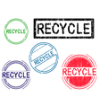5 Grunge Stamps RECYCLE vector image