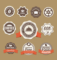 Insignia set vector image vector image