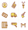 Icons Style Icons Style Security Icons vector image
