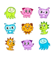 Cartoon funny monster kids vector image