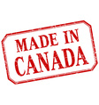 Canada - made in red vintage isolated label vector image