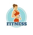 Fitness Logo Flat Design vector image