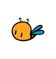 abstract cute bee icon on white vector image