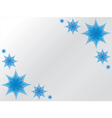 Blue flower background vector image