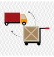 car hand box cargo vector image
