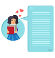 Girl hugging books vector image