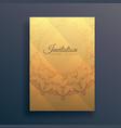 invitation flyer design with mandala decoration vector image