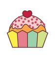 love cupcake valentine gift graphic vector image