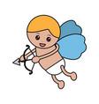love cupid angel fly bow arrow romantic vector image