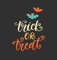 trick or treat halloween party poster vector image