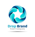 Mineral natural water icon design Aqua drop logo vector image