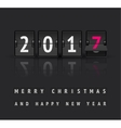 New Year concept Flip board clock changes from vector image