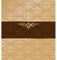 Vintage gold ornament vector image vector image