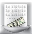 100 Gray Page 2014 Calendar vector image