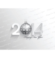 Happy New Year background with a bauble design vector image