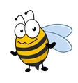 Cute little honey bee with a bemused expression vector image