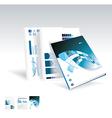 Magazine or brochure design vector image vector image