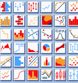 Stats Element Set vector image vector image