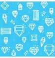 Blue diamonds vector image