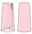 Beach skirt vector image vector image
