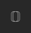 Letter O logo modern monogram black and white vector image