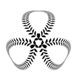 Laurel wreath tattoo Clover trefoil sign with vector image