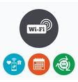 Free wifi sign Wifi symbol Wireless Network vector image