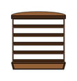 bakery empty stand vector image